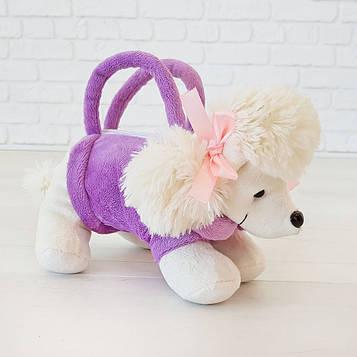 Мягкая игрушка Kronos Toys сумочка Пудель Дора 29 см