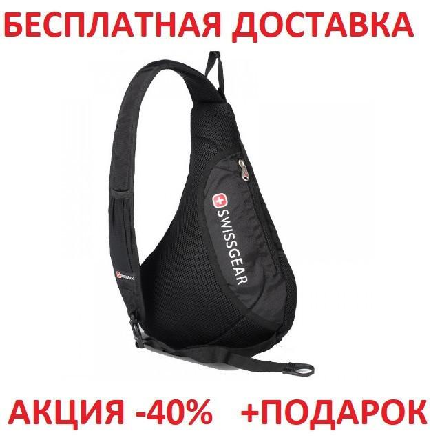 Городской рюкзак через плечо SwissGear 701 Sling BLACK Originalsize