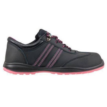 Обувь 214 S1 защитная с металлическим носком, закрытой пяткой, черно-розового цвета.  Urgent (POLAND), фото 2
