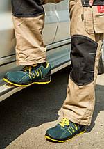 Мягкая обувь 212 OB защитная без металлического носка, желто-синего цвета.  Urgent (POLAND), фото 2