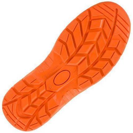 Сандали 301 SB с металическим носком, черно-оранжевого цвета.   Urgent (POLAND), фото 2