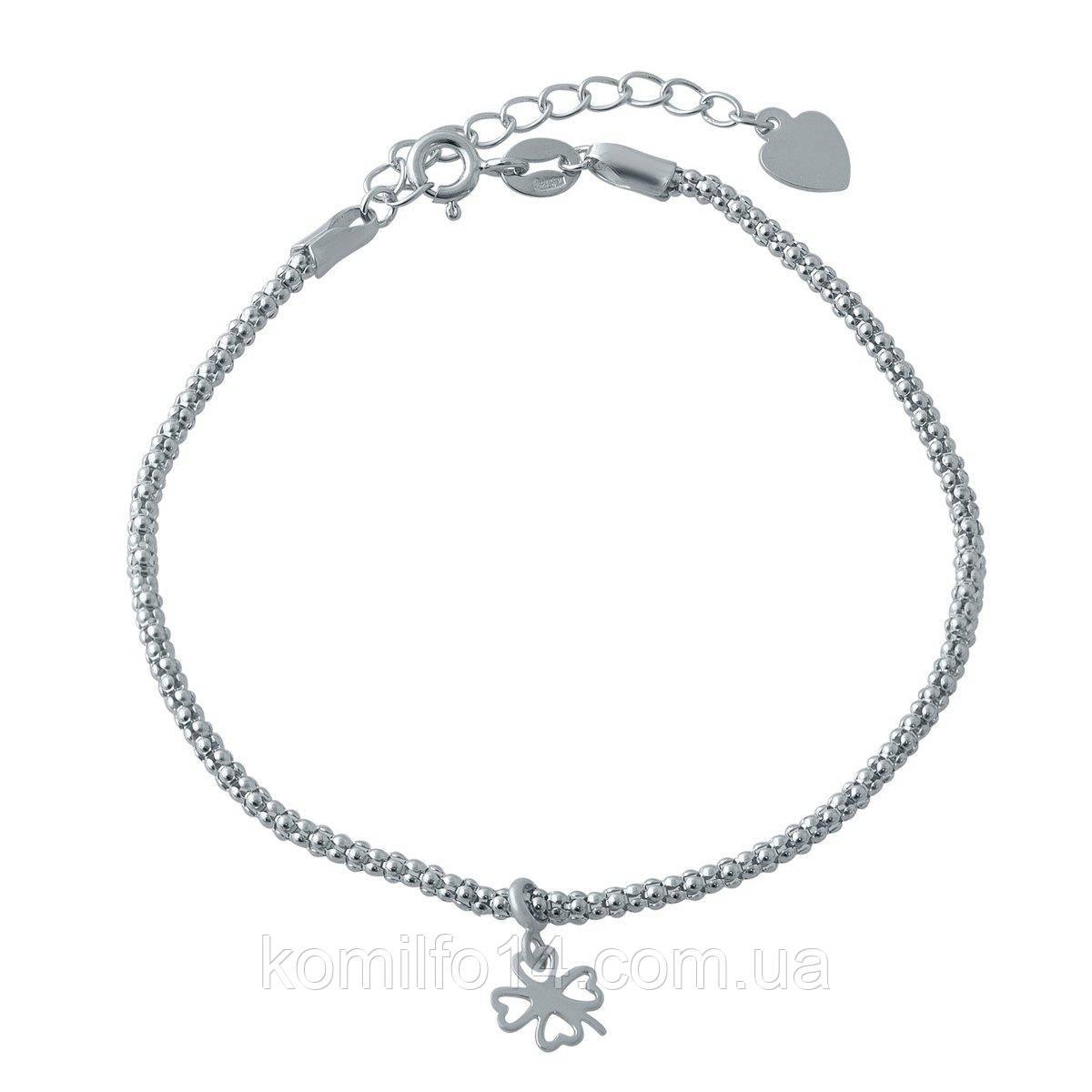 Женский серебряный браслет без камней