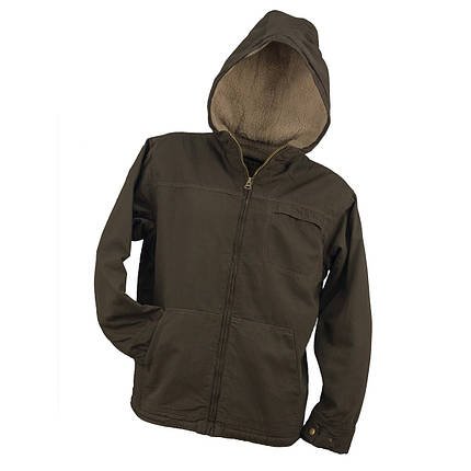 Демисезонная куртка KURTKA URG-3330 BROWN выполнена из 100% хлопка, коричневого цвета.  Urgent (POLAND), фото 2