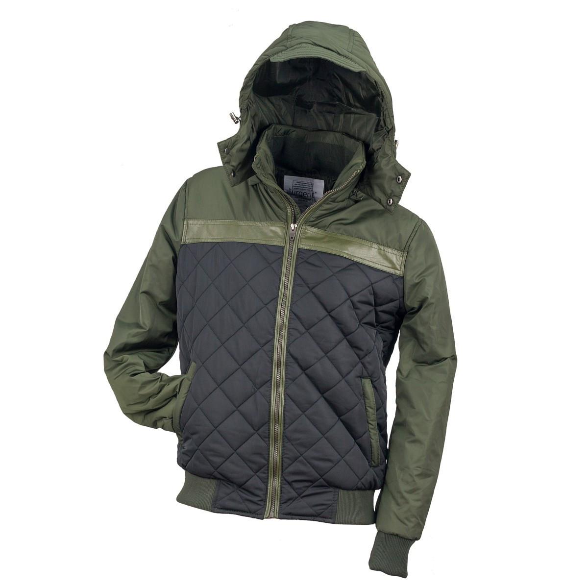 Курточка стёганная URG-BBJA ARMY выполнена из полиэстера, черно-зеленого Urgent (POLAND)