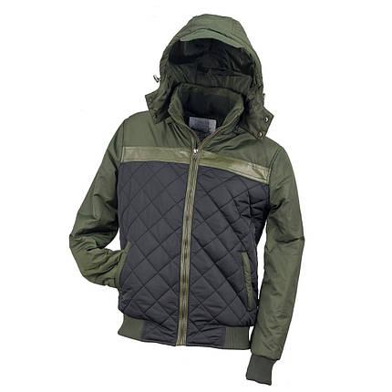 Курточка стёганная URG-BBJA ARMY выполнена из полиэстера, черно-зеленого Urgent (POLAND), фото 2