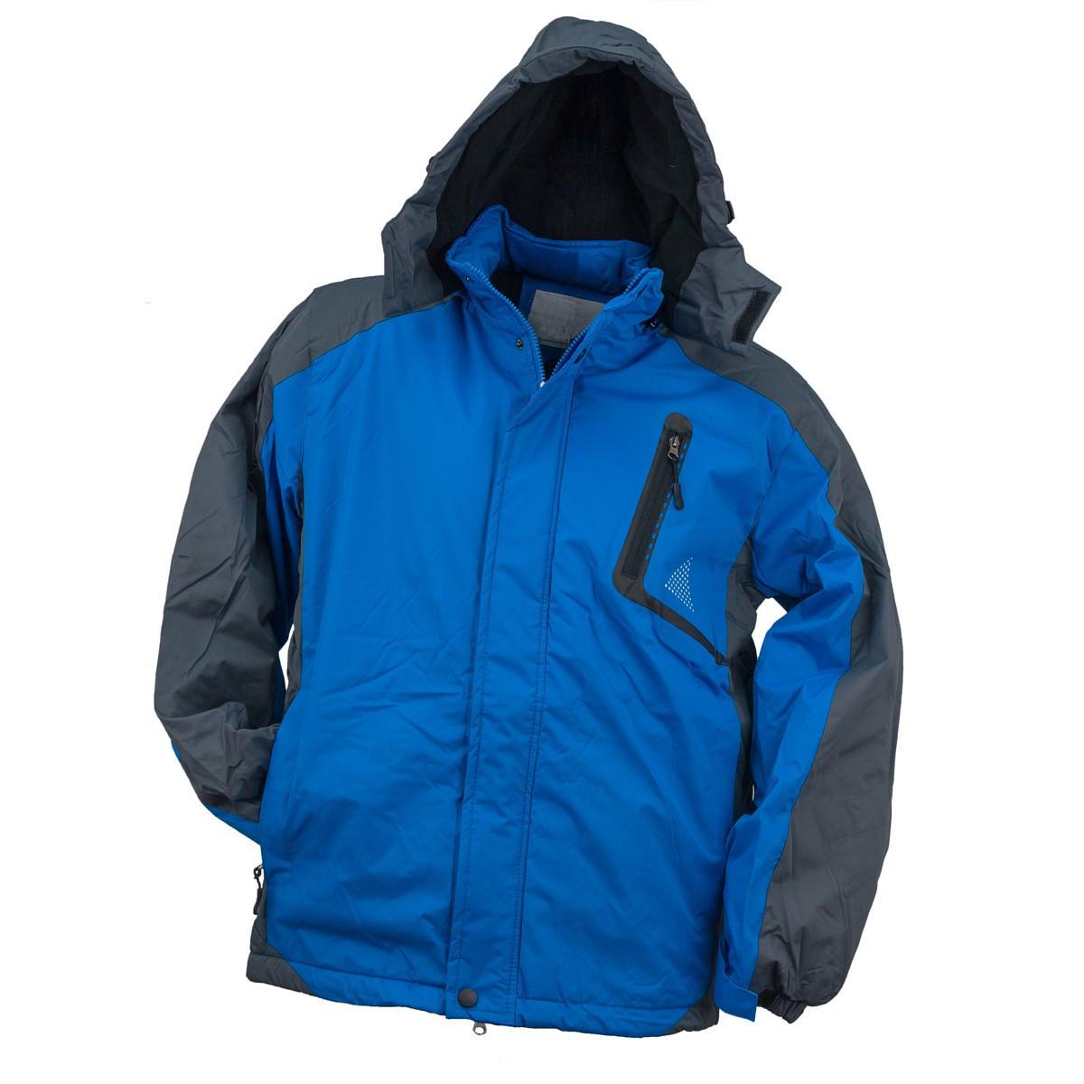 Куртка Y-263 BLUE, выполненная из 100% полиэстера, черно-синего цвета.  Urgent (POLAND)