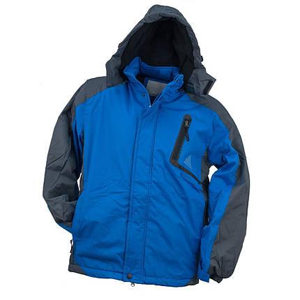 Куртка Y-263 BLUE, выполненная из 100% полиэстера, черно-синего цвета.  Urgent (POLAND), фото 2