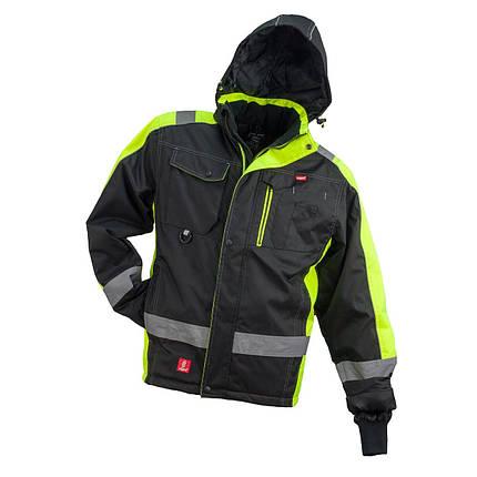 Куртка  GL-8365, утеплённая, выполнена из 100% полиэстера, черно-желтого цвета.  Urgent (POLAND), фото 2