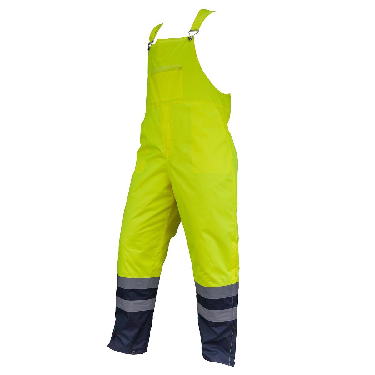 Предупреждающие брюки SPODNIE OGRODNICZKI HSV YELLOW водоотталкивающие  Urgent (POLAND)