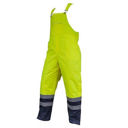 Предупреждающие брюки SPODNIE OGRODNICZKI HSV YELLOW водоотталкивающие  Urgent (POLAND), фото 2