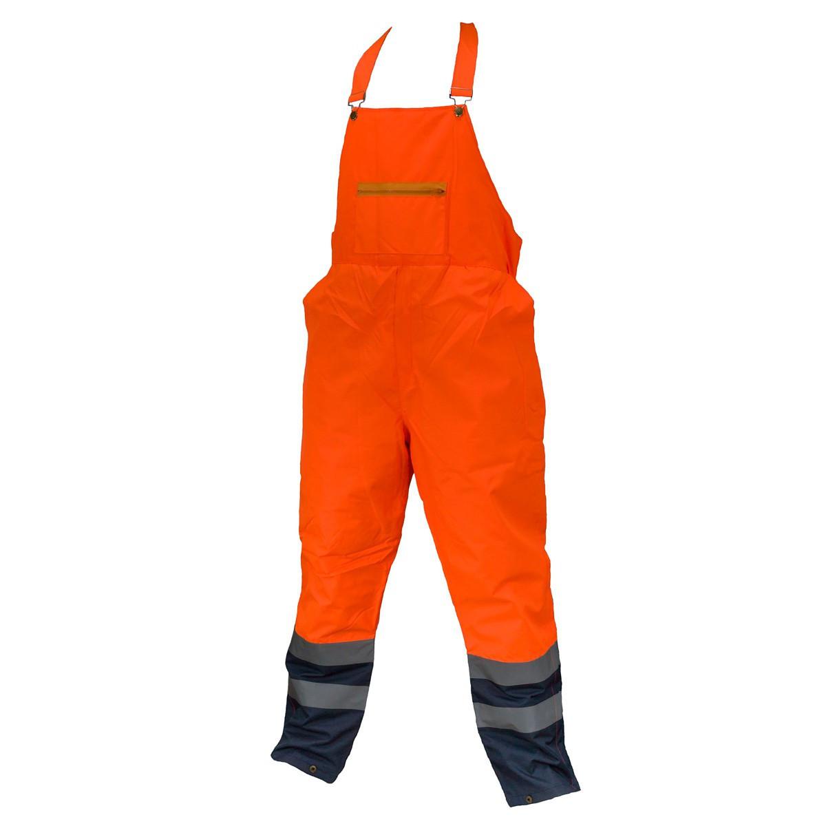 Предупреждающие брюки SPODNIE OGRODNICZKI HSV ORANGE водооталкивающие, оранжевого цвета.  Urgent (POLAND)