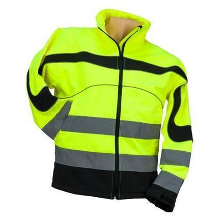 Куртка  OSTRZEGAWCZY ŻÓŁTY со светотражающими полосами, черно-желтого цвета. Urgent (POLAND), фото 2