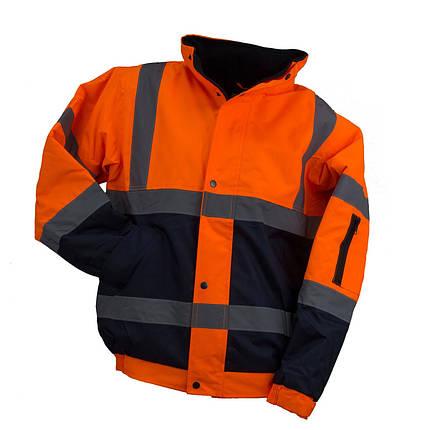 Куртка  BOMBER ORANGE со светотражающими полосами, черно-оранжевого цвета. Urgent (POLAND), фото 2