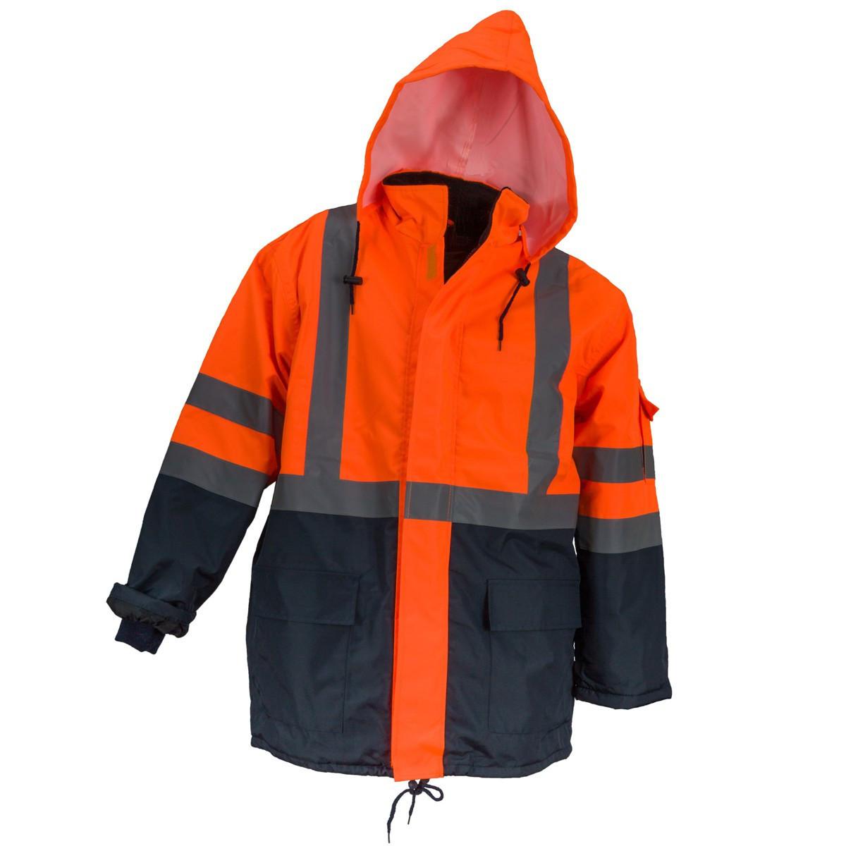 Куртка HSV ORANGE со светотражающими полосами, черно-оранжевого цвета. Urgent (POLAND)