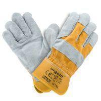 Кожаная перчатка LS 5001 желтые, усиленные коровьей кожей с хлопковой манжетой Urgent (POLAND)