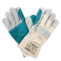 Кожаная перчатка LS 1039_AB усиленная коровьей кожей с хлопковой манжетой Urgent (POLAND)