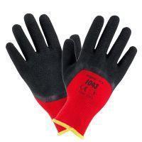Рабочие перчатки 1043 покрыты вспененным латексом, красно-черного цвета. Urgent (POLAND)