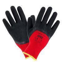 Рабочие перчатки 1043 покрыты вспененным латексом, красно-черного цвета. Urgent (POLAND), фото 2
