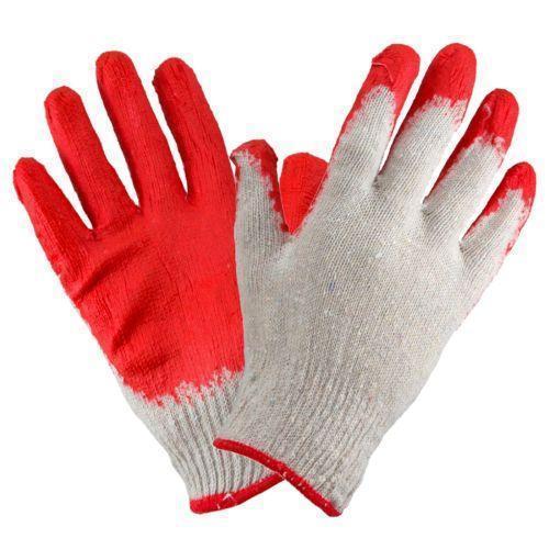 Перчатки рабочие 1014 (ВАМПИРКИ) покрыты латексом, красного цвета. Urgent (POLAND)