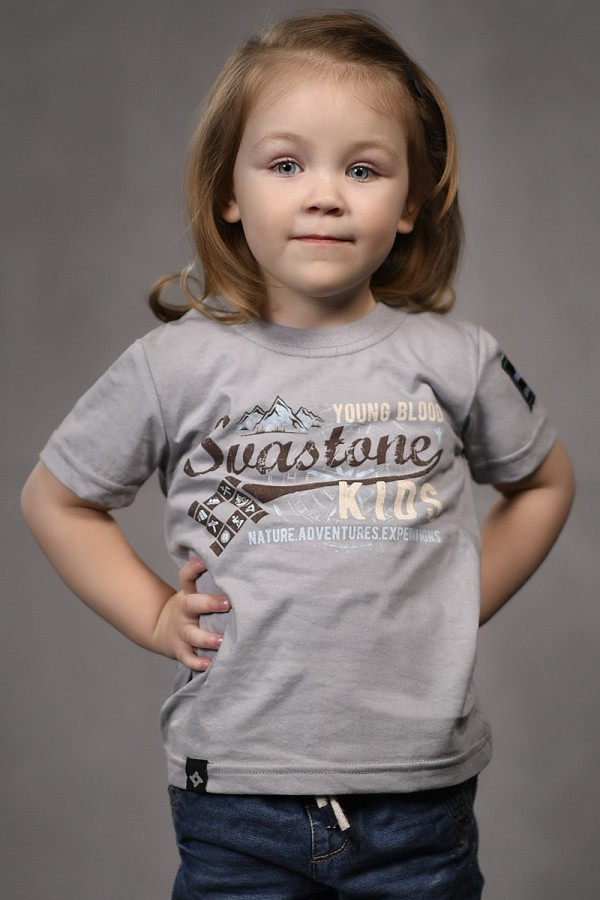 "Детская футболка Sva Stone ""N.A.E"" 122-134 Серая (SS-TSB-NAE-7-8)"