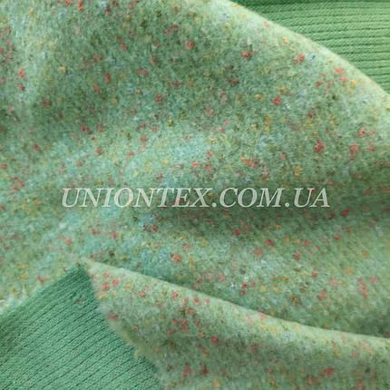 Трикотажная пальтовая ткань меланж мята, фото 2