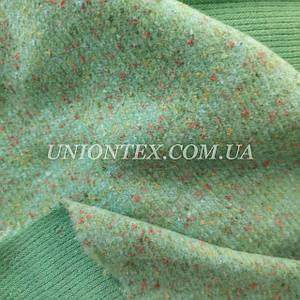 Трикотажная пальтовая ткань меланж мята