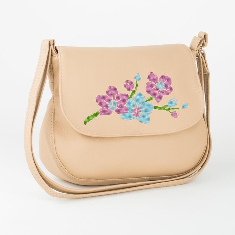 Женская сумка Габриела с вышивкой Персиковый (Sgab_435_fly_b)