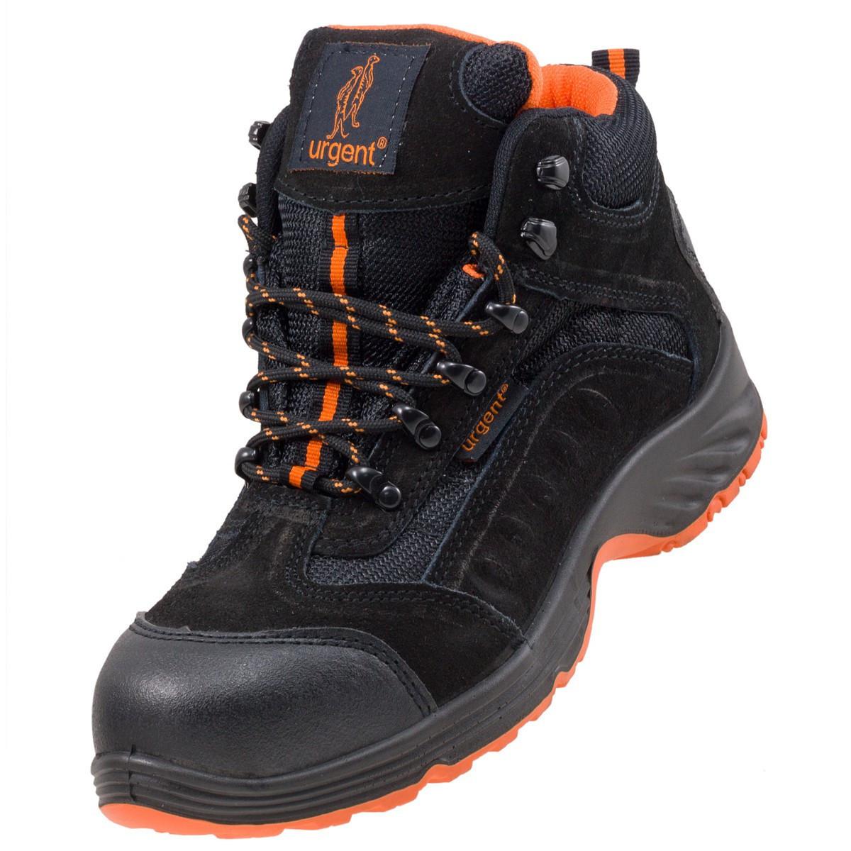 Ботинки рабочие 103 SB с металлическим носком,антистатические,  черно-оранжевого. URGENT (POLAND)