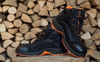 Ботинки рабочие 103 SB с металлическим носком,антистатические,  черно-оранжевого. URGENT (POLAND) , фото 3