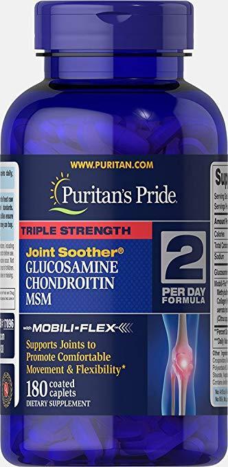 Глюкозамин Хондроитин МСМ, Puritans Pride, 180 таблеток