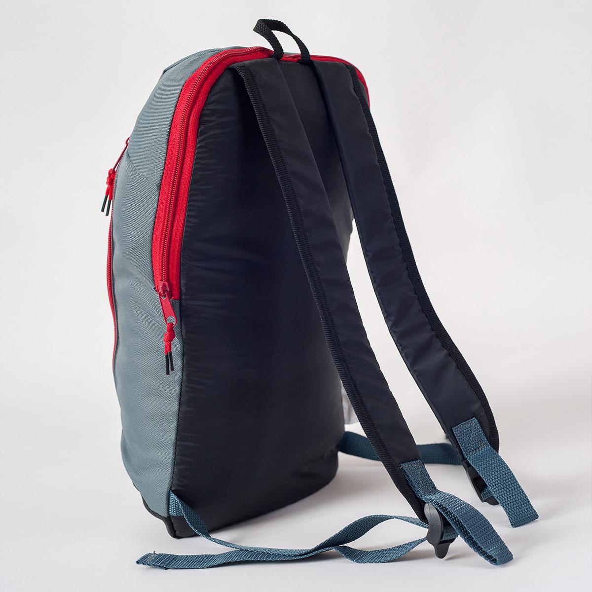 Спортивный рюкзак MAYERS 10L, серый + черный / красная молния, фото 3
