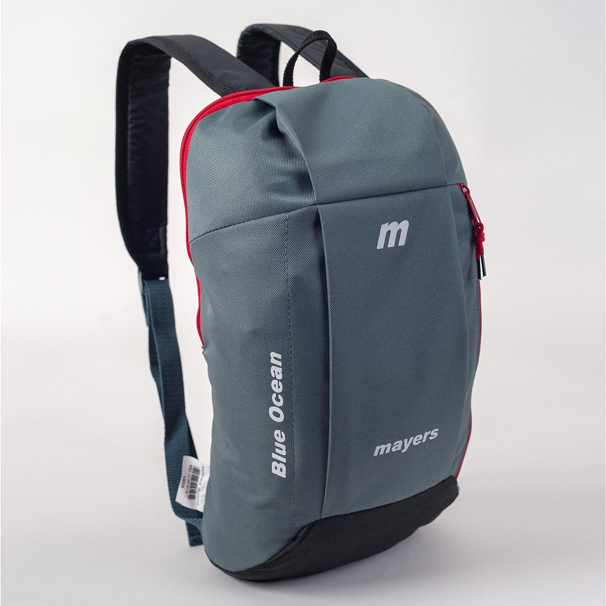 Спортивный рюкзак MAYERS 10L, серый + черный / красная молния, фото 2