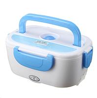 Автомобильный ланч-бокс с подогревом Electronic Lunch Box Бело-голубой
