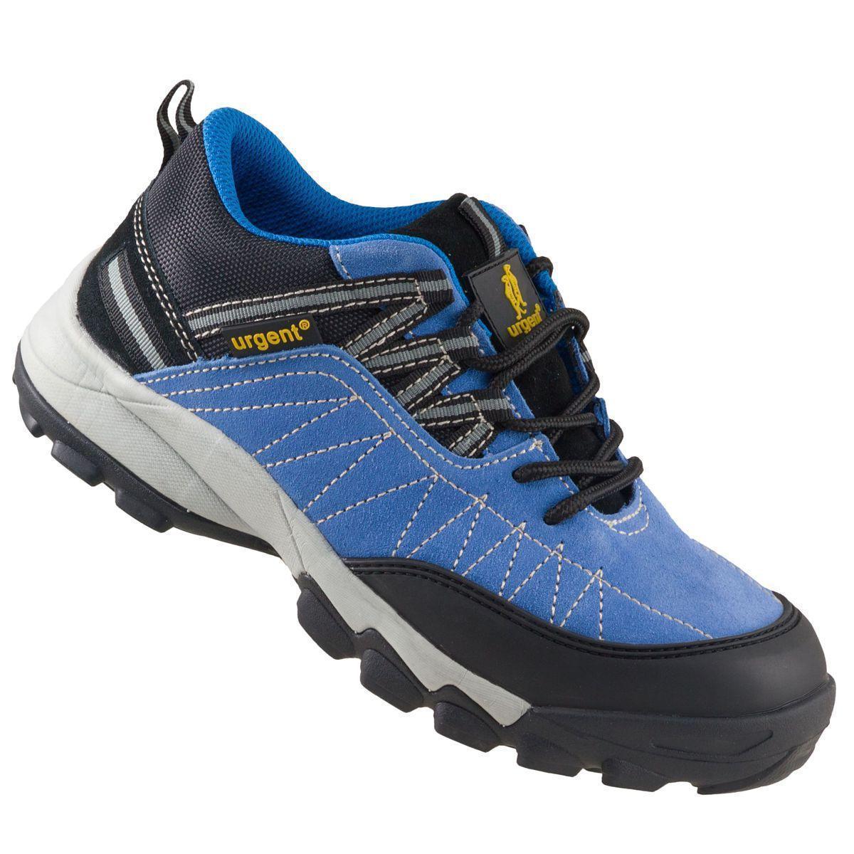 Кроссовки 233 S1 защитые с металлическим носком, черно-синего цвета.  URGENT (POLAND)