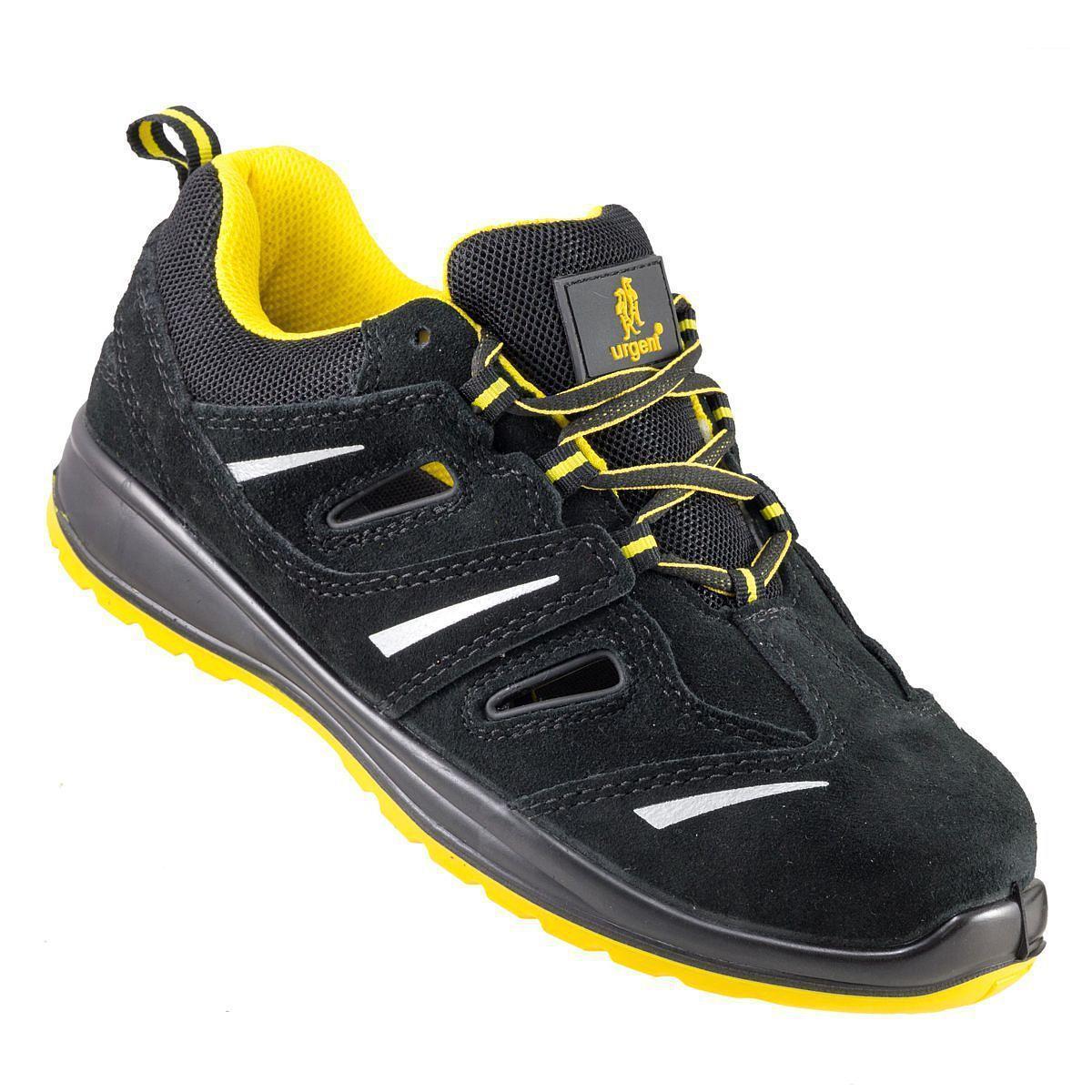 Кроссовки  206 S1  защитные с металлическим носком, черно-желтого цвета.  URGENT (POLAND)