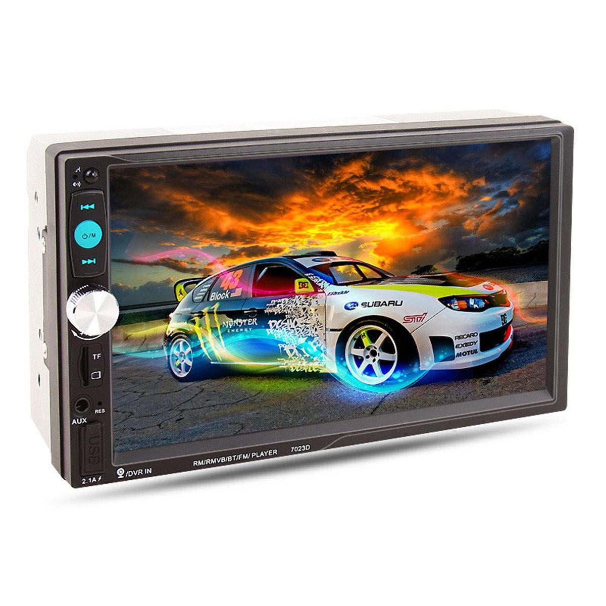 АвтомагнитолаMP5 SR 70232Din экран 7'', USB, SD, MMC, BT, AUX, GPS, MP5,съемная панель
