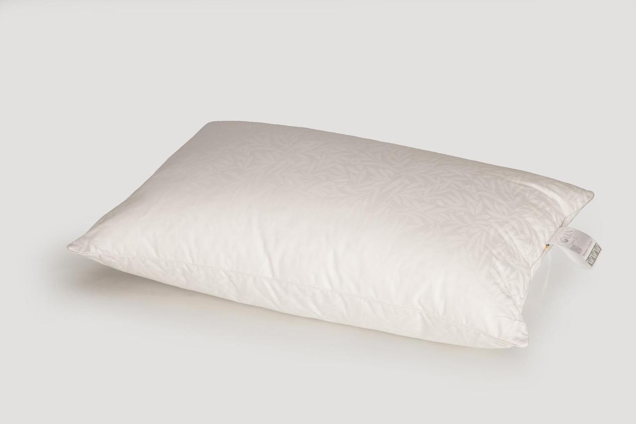 Подушка IGLEN S гипоалергенна в жаккардовом сатине 70x70 см Белая (7070S)