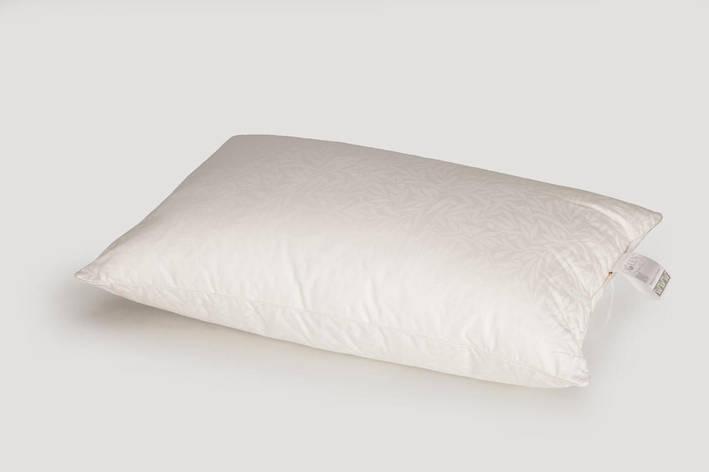 Подушка IGLEN S гипоалергенна в жаккардовом сатине 70x70 см Белая (7070S), фото 2