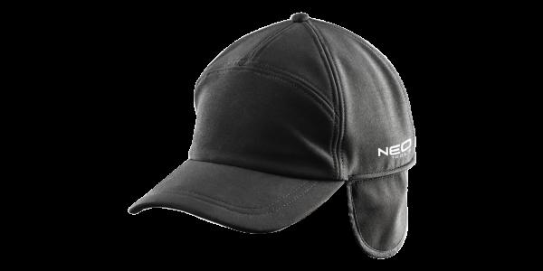 Бейсболка рабочая 81-620 , ветронепроницаемая, регулируемая окружность, черного цвета NEO TOOLS