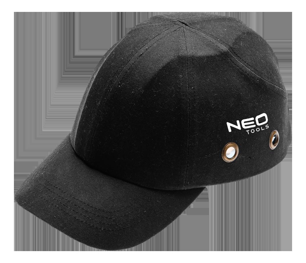 Бейсболка  97-590 с усиленным козырьком, черного цвета. NEO TOOLS