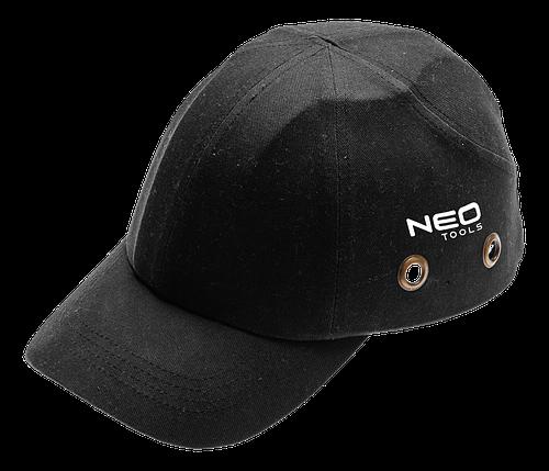 Бейсболка  97-590 с усиленным козырьком, черного цвета. NEO TOOLS, фото 2