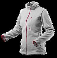 Флисовая куртка женская 80501, серая , сшитая из высококачественного флиса, 100% полиэстер. NEO TOOLS
