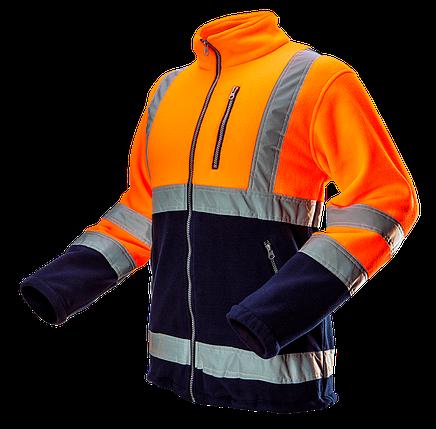 Флисовая 81-741 повышенной видимости, оранжевого цвета. Neo-Tools, фото 2