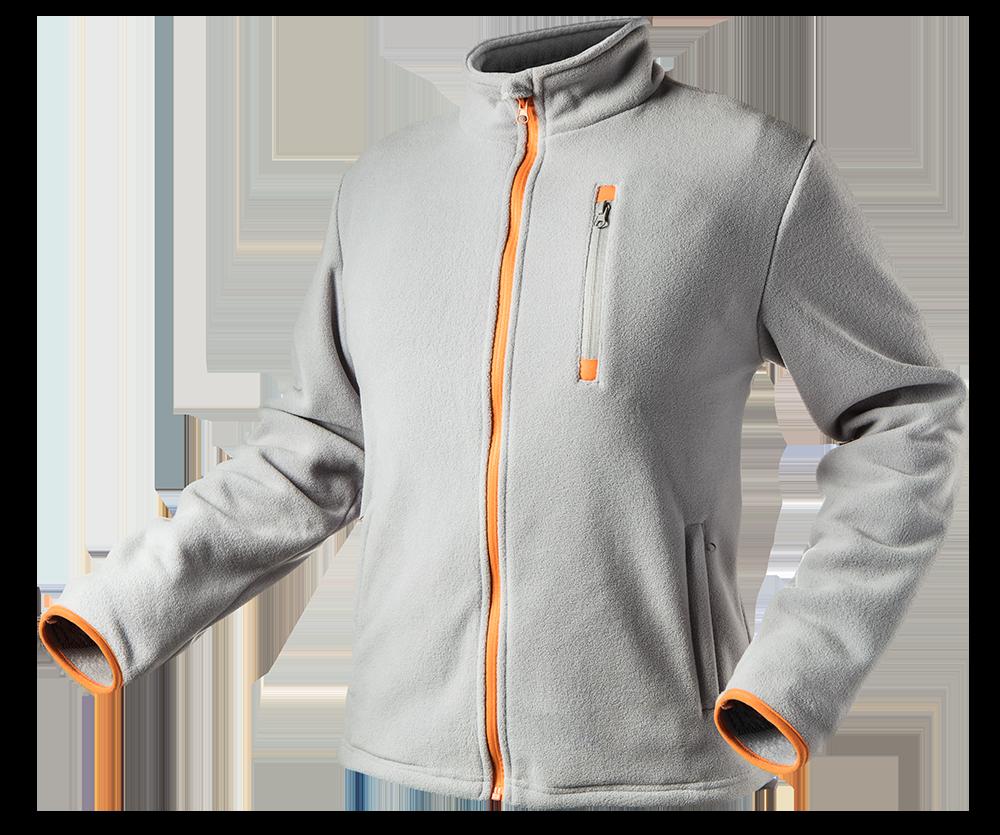 Куртка 81-501, серого цвета , выполнена из высококачественного флиса. NEO TOOLS