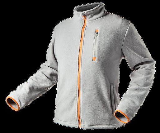 Куртка 81-501, серого цвета , выполнена из высококачественного флиса. NEO TOOLS, фото 2