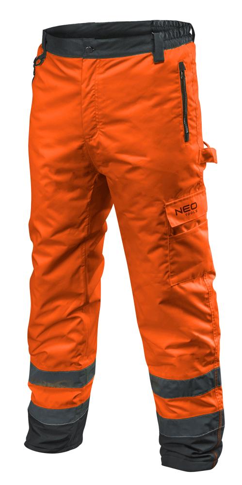 Сигнальные утепленные рабочие брюки 81-761 , оранжевого цвета  NEO TOOLS