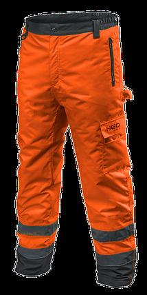 Сигнальные утепленные рабочие брюки 81-761 , оранжевого цвета  NEO TOOLS, фото 2