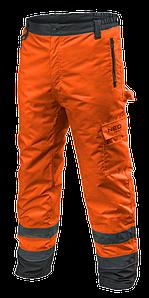 Сигнальные утепленные рабочие брюки 81761 , оранжевого цвета  NEO TOOLS