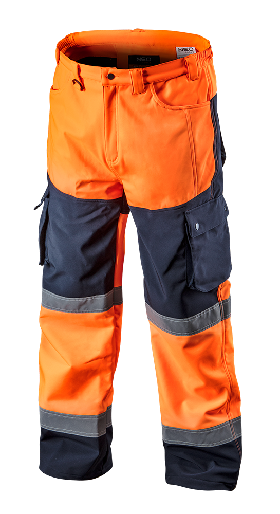 Сигнальные рабочие брюки 81-751 softshell, оранжевого цвета NEO TOOLS