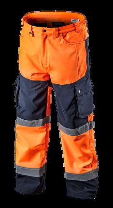 Сигнальные рабочие брюки 81-751 softshell, оранжевого цвета NEO TOOLS, фото 2